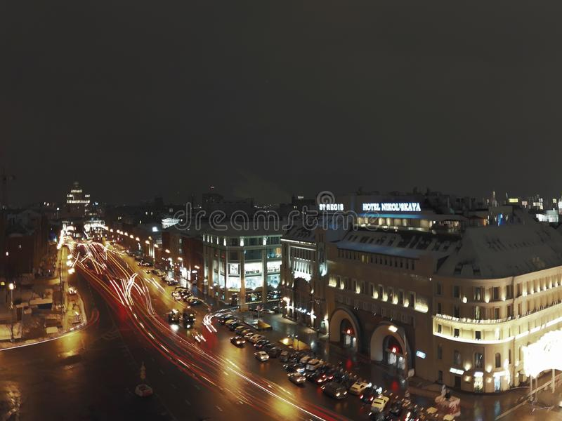 Moscow night royalty free stock photo