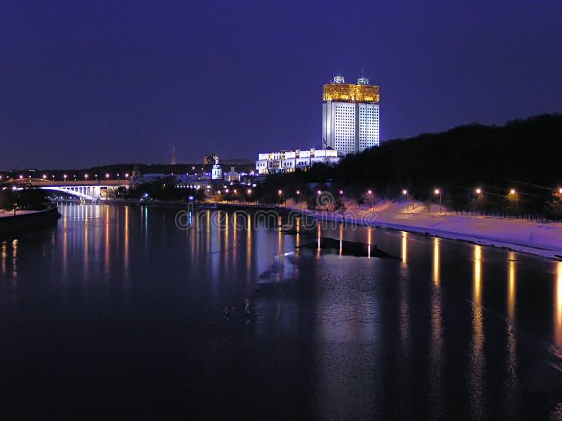 moscow noc zdjęcie stock