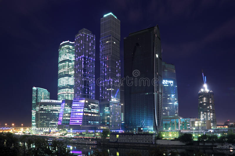 moscow noc obrazy royalty free