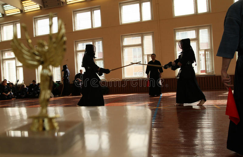 Moscow Open Tournament On Kendo Editorial Image