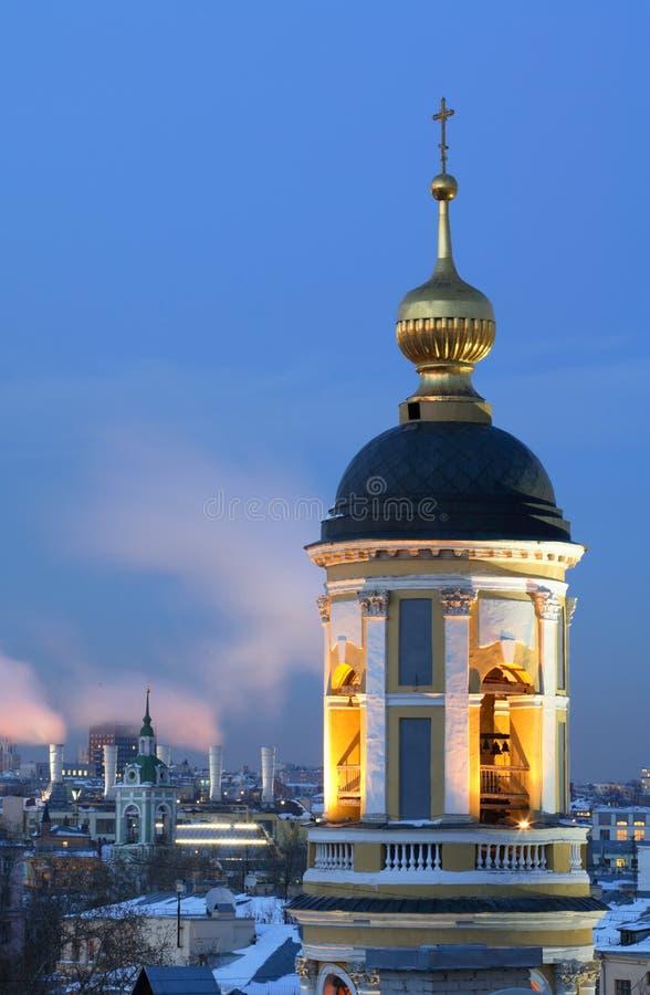 moscow orthodox temple στοκ φωτογραφία