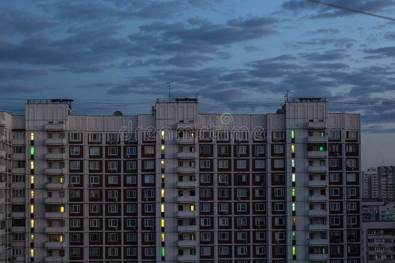 Moscow outskirts house stock photography