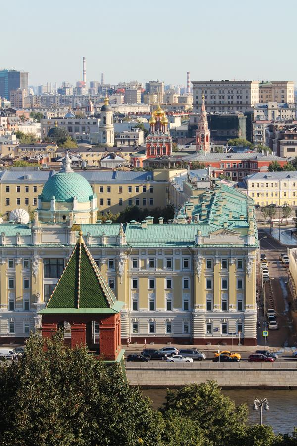 Moscow panorama from Ivan Great tower bell, Moscow stock image