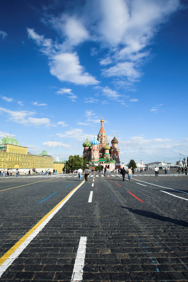 moscow röd fyrkant royaltyfri foto
