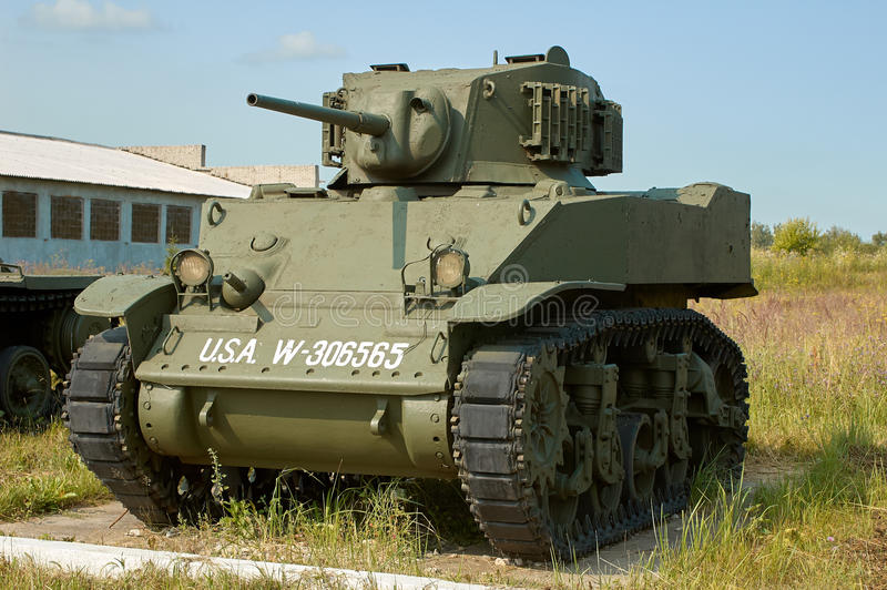 MOSCOW REGION, RUSSIA - JULY 30, 2006: M3 Stuart an American light tank in the Tank Museum, Kubinka near Moscow stock photos