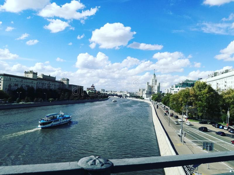 Moscow river stock image