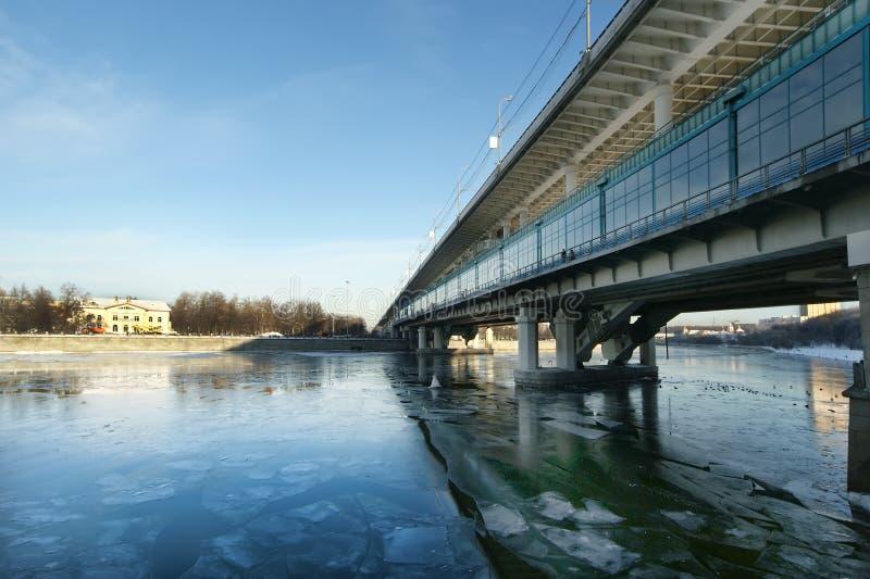Download Moscow River, Luzhnetskaya Bridge (Metro Bridge) Stock Photo - Image: 17787386