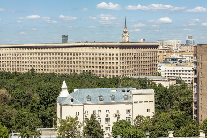 Moscow roofs royalty free stock photography