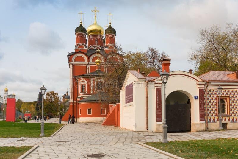 Old church in Zaryadye in Kitay-Gorod, Moscow, Russia stock image