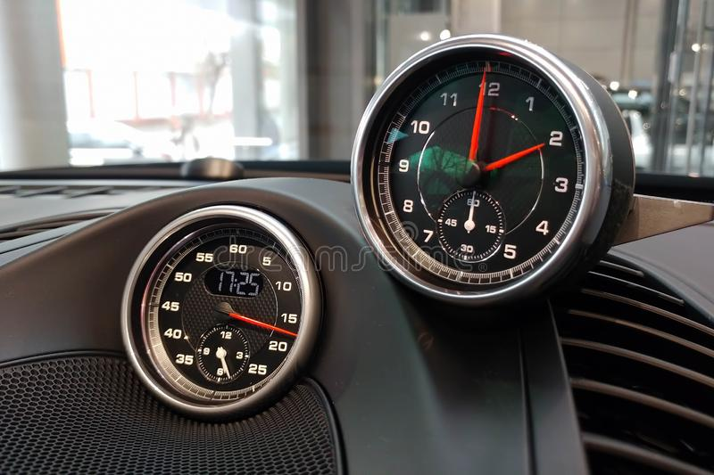 Interior Of The Classic Sports Car Stock Image - Image of