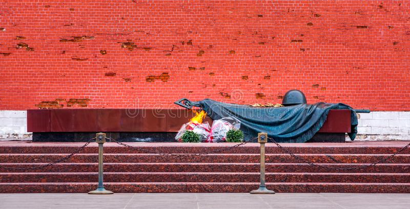 Tomb of the Unknown Soldier. It is a war memorial, dedicated to Soviet soldiers killed during World War II royalty free stock image