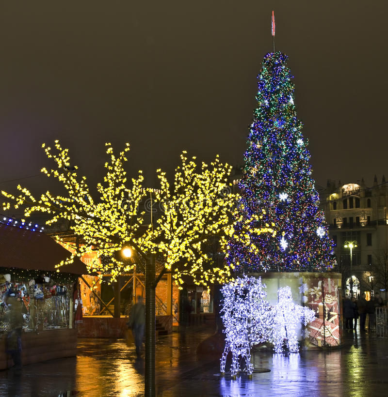 Moscow, Russia - December 2011: Christmas trees