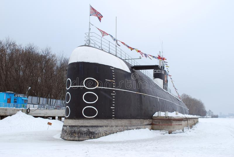 The Soviet diesel electric B-396 submarine in the museum complex opened on the Khimki reservoir. royalty free stock photos