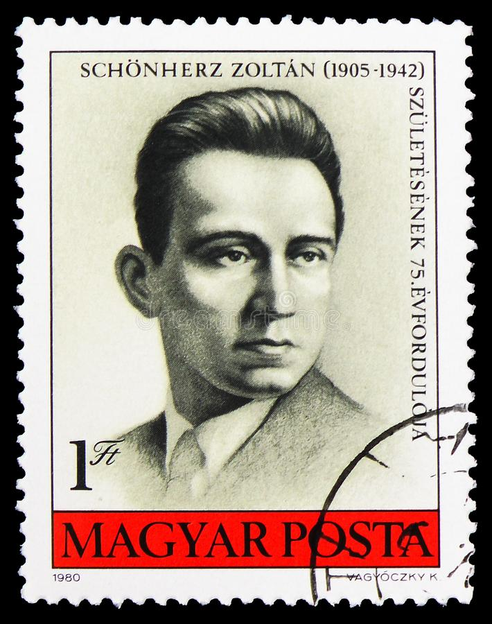 Zoltan Schonherz, anti-fascist martyr, Personalities serie, circa 1980 royalty free stock images