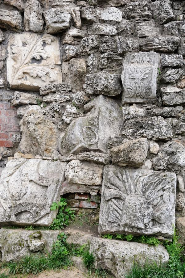 Fragment of Grotto Ruins - Alexander Garden royalty free stock photos