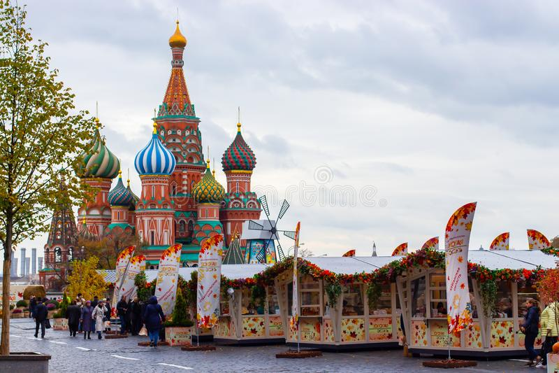 St. Basil's Cathedral, Moscow, Russia Editorial Stock