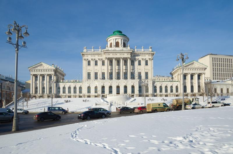Pashkov House - building of State Russian library, Moscow, Russia royalty free stock image