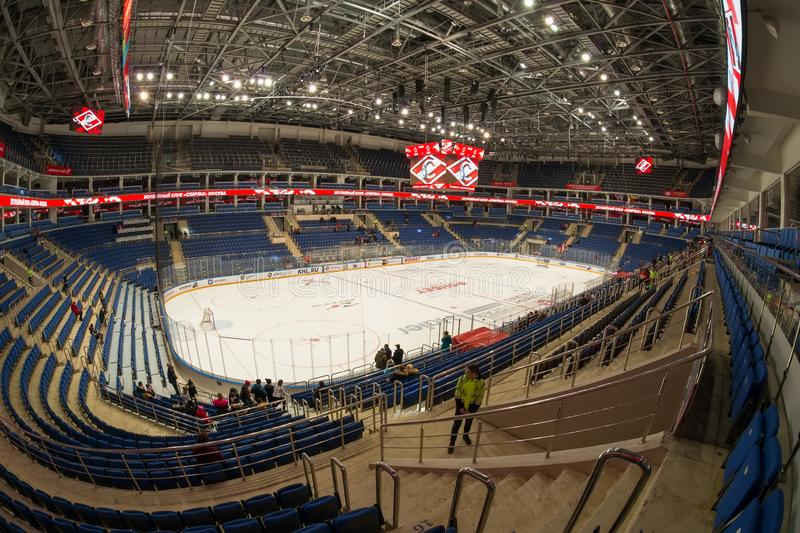 Hockey arena and the spectator seats stock image