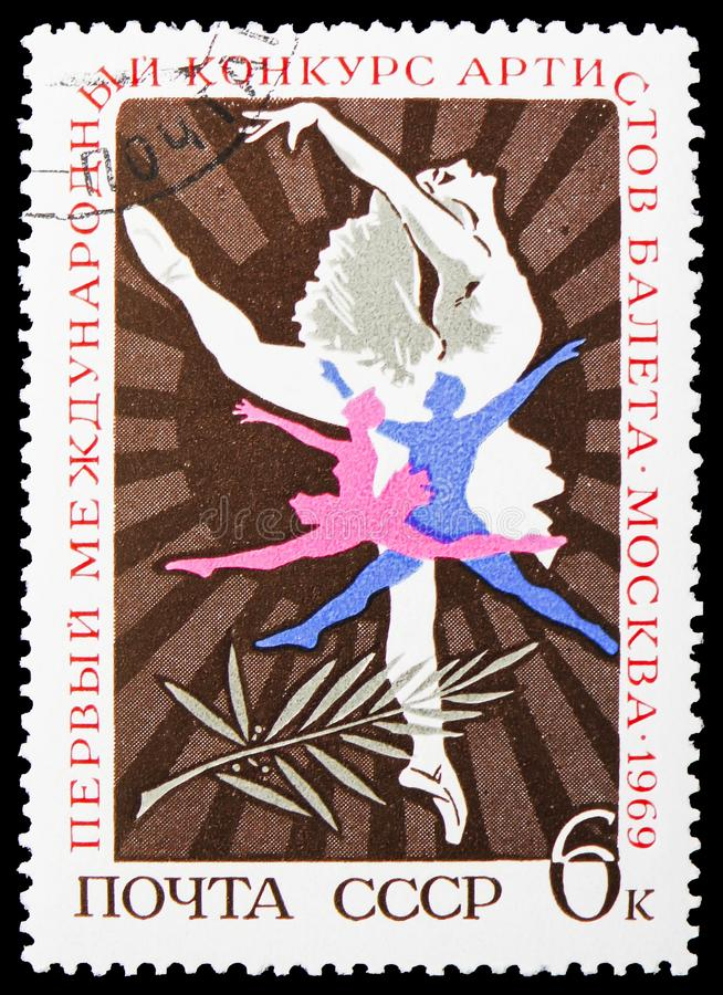 First International Ballet Competition, serie, circa 1969 royalty free stock image