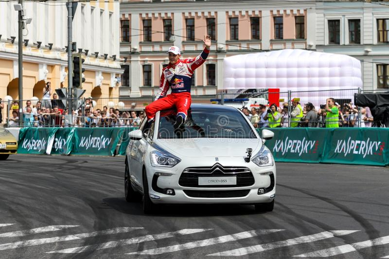 MOSCOW, RUSSIA - JULY 14: Amazing Moscow City Racing Show, Moscow on 14 July 2014 stock photo