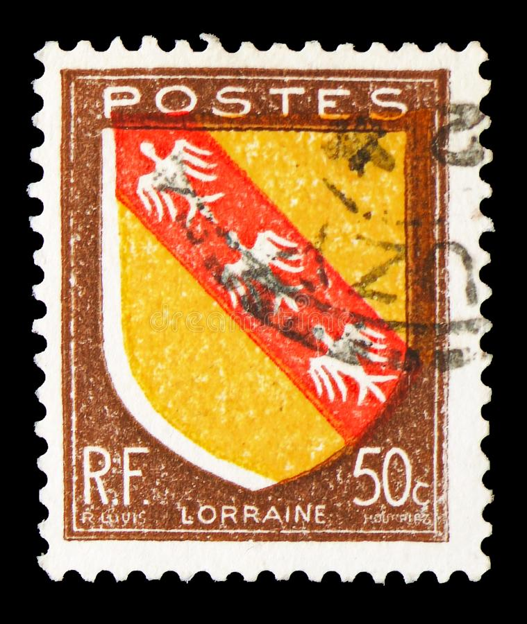 Lorraine, Coat of Arms serie, circa 1946 royalty free stock images