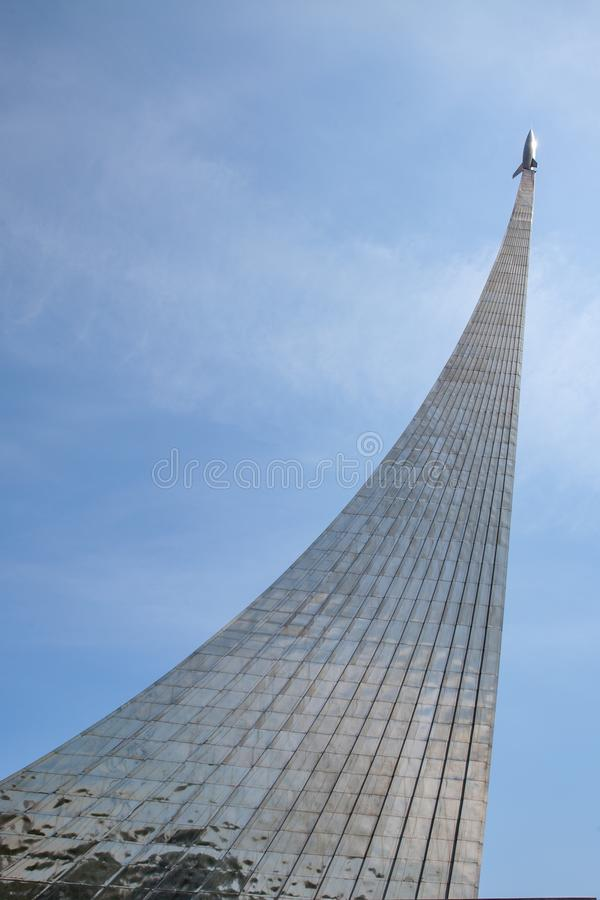 Moscow / Russia - June 8, 2014: Monument to space explorers on the VVT. Moscow / Russia - June 8, 2014: Monument to space explorers on the VVT royalty free stock images