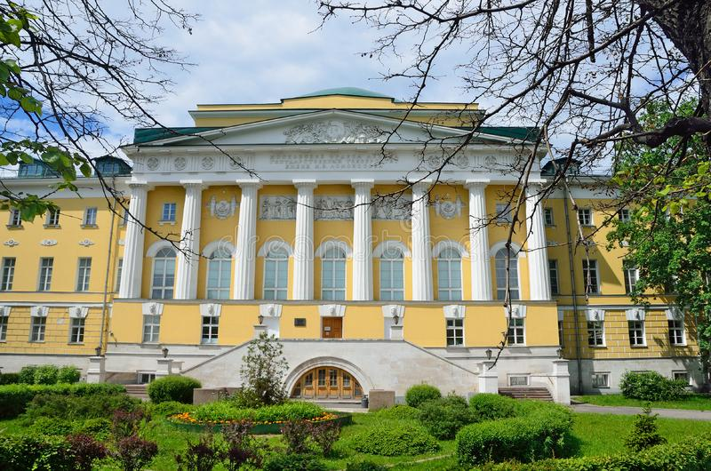 Moscow, Russia, June, 12, 2017, Nobody, the Institute of Asian and African studies IAAS of Moscow state University MSU on Mokh. Moscow, Russia, the Institute of royalty free stock photo
