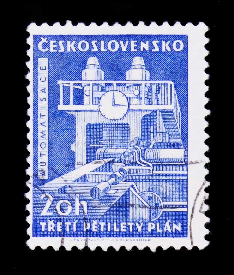 MOSCOW, RUSSIA - JUNE 20, 2017: A stamp printed in Czechoslovakia. Shows , circa royalty free stock photos