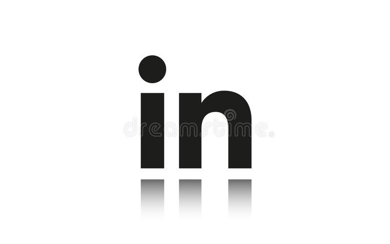 Moscow, Russia - June 20, 2018: Linkedin logo icon. Social media symbol stock photography