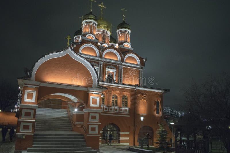 moscow russia Kyrka den gamla delen av Moskva royaltyfri foto