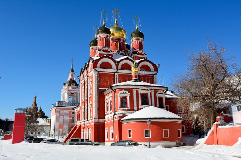 Cathedral of Znamensky Monastery in Moscow royalty free stock photos