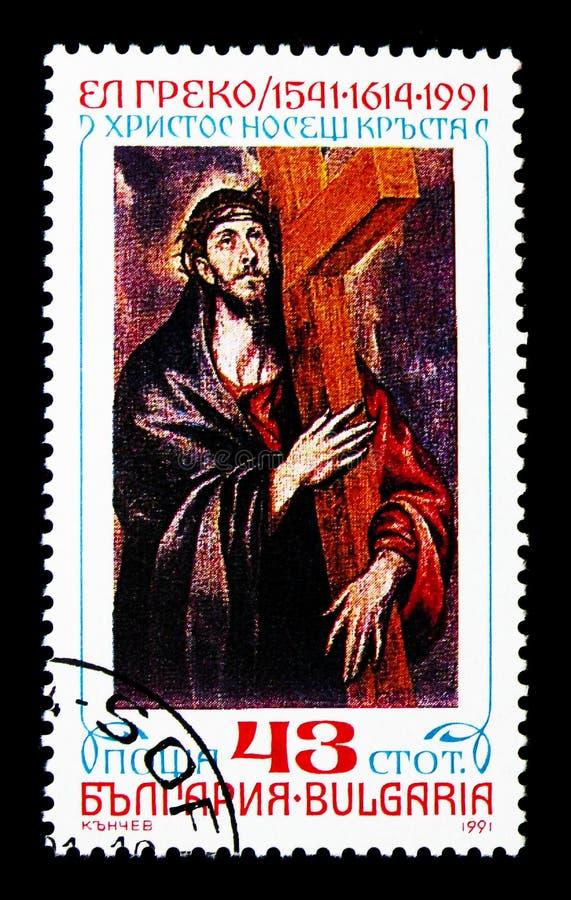 450th Birth anniversary of El Greco, Art serie, circa 1991 stock photography