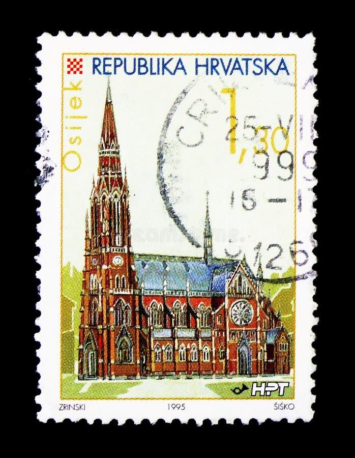 Osijek city, Croatian Towns serie, circa 1995 stock photos