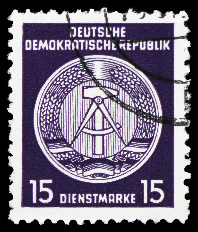 Official Stamps for Administration Post B (I), serie, circa 1954 stock photos