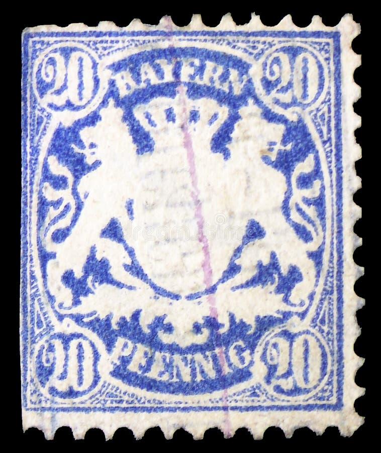 Bayern coat of arms Wm2, Bavaria serie, circa 1876 stock photo