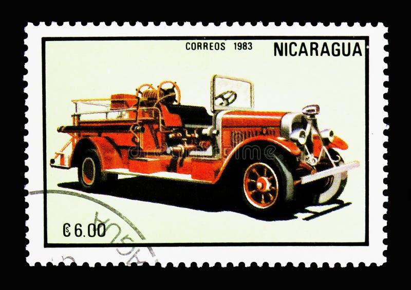 Firecar, Firetrucks serie, circa 1983 stock photography