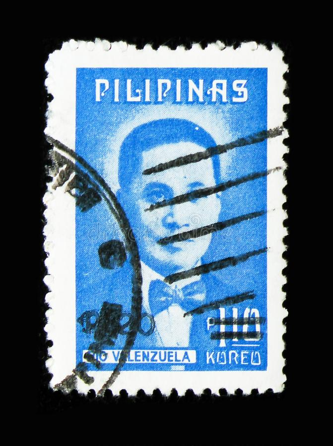Doctor Pio Valenzuela, Patriots serie, circa 1974. MOSCOW, RUSSIA - MARCH 18, 2018: A stamp printed in Philippines shows Doctor Pio Valenzuela, Patriots serie royalty free stock image