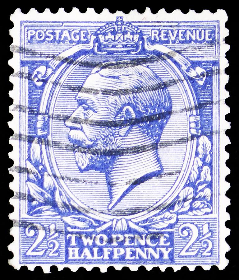 King George V, Definitives serie, circa 1924 stock photography