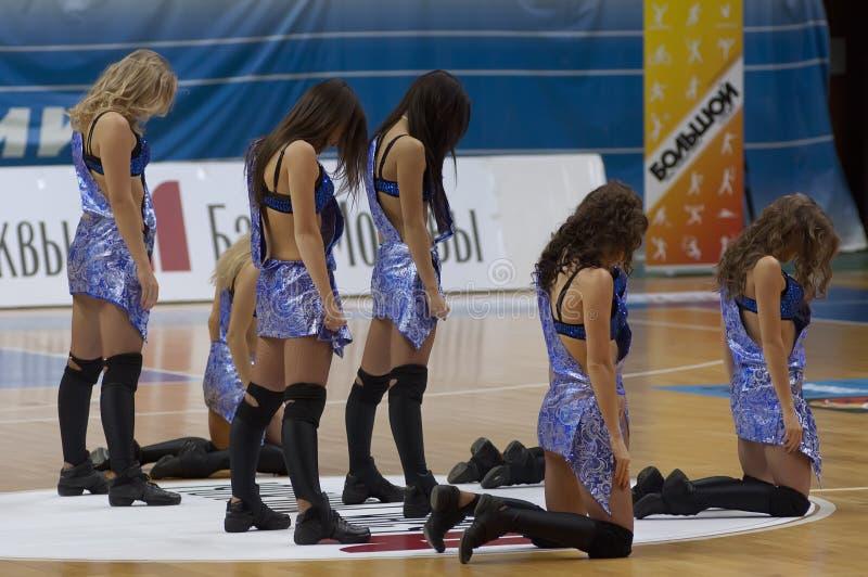 Cheerleaders stock photos