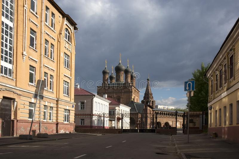 Krutitsy Metochion of Russian Orthodox Church, in the summer on a sunny day. Moscow, Russia stock photography