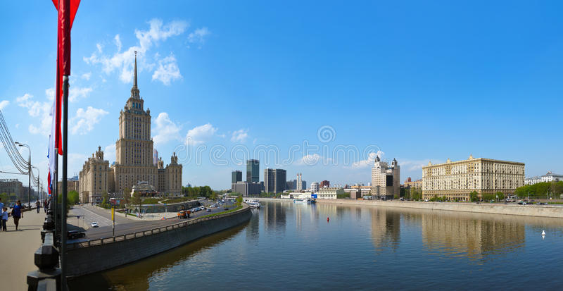 MOSCOW, RUSSIA - MAY 01: Moscow Panorama - Stalin`s famous skysc royalty free stock images