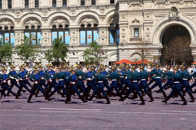 Moscow, Russia, may 26, 2007. Russian scene: divorce horse guards in the Moscow Kremlin on the red square royalty free stock images