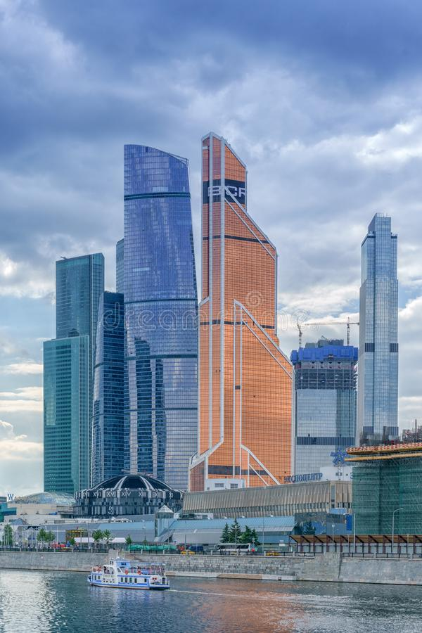 Moscow, Russia - May 26, 2019: Skyscraper buildings Moscow-City Moscow International Business Center - a modern commercial stock photography