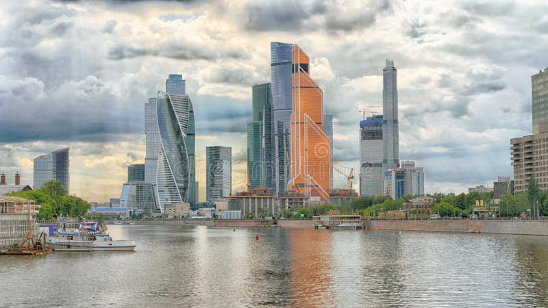 Moscow, Russia - May 26, 2019: Towers of the Moscow international business center royalty free stock photos