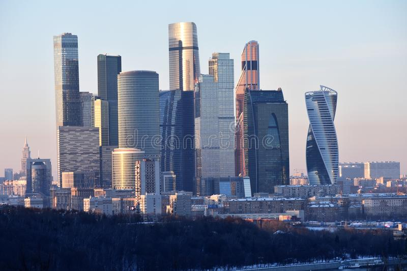 Moscow, Russia: Moscow City is a commercial center royalty free stock photo