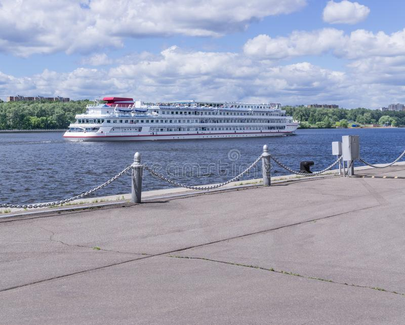 MOSCOW, RUSSIA: North river terminal stock photo
