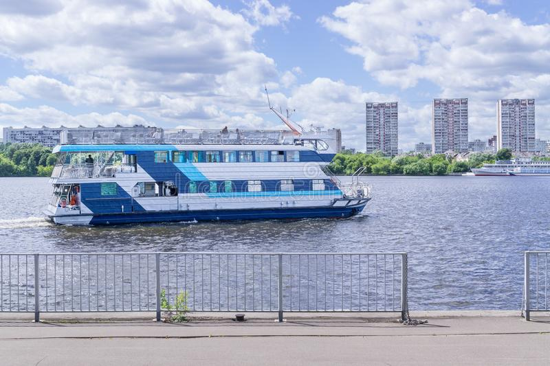 MOSCOW, RUSSIA: North river terminal royalty free stock photography