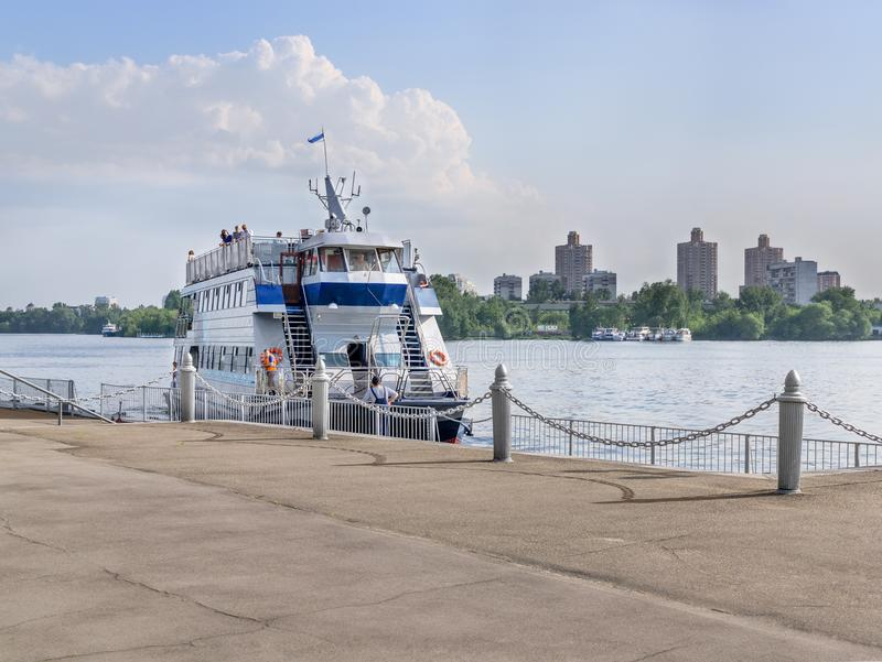 MOSCOW, RUSSIA: North river terminal stock photography