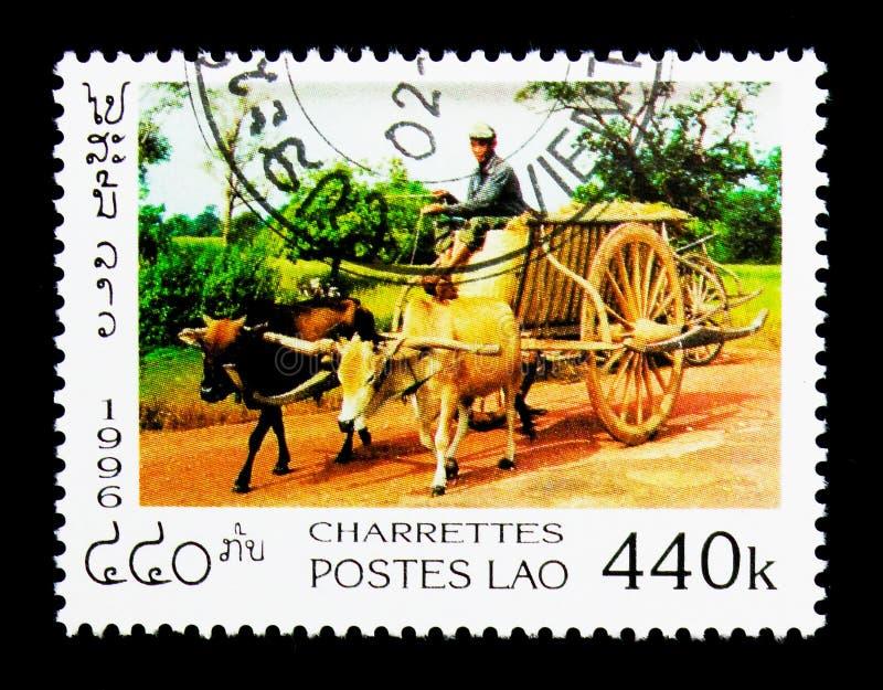 Land Wagon side view, Land Wagons serie, circa 1996 stock photos