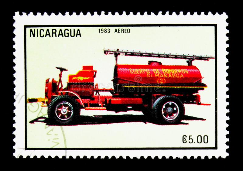 Firecar, Firetrucks serie, circa 1983 stock images